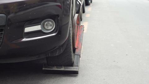 Wheel Clamp Parking Infraction Tilt Up Footage