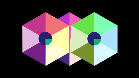 4K Flat design geometry background Animation