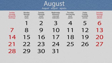 Flip pasteboard calendar Animation