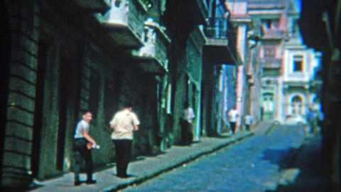 1964: Busy streets and alleys of San Juan, Puerto Rico Footage