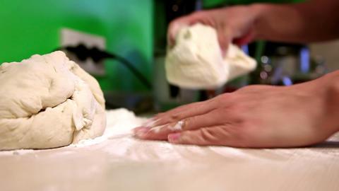Kneading dough Footage