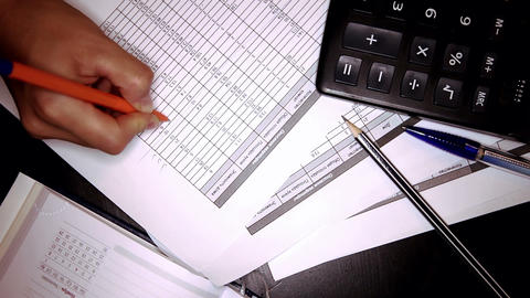 Businesswoman Works With Documents stock footage