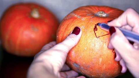 Scary pumpkin Footage