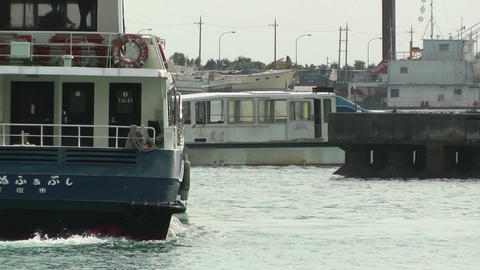 Port in Ishigaki Okinawa 35 vessel Stock Video Footage
