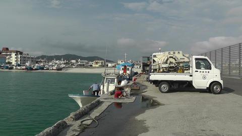 Port in Okinawa Islands 06 Stock Video Footage