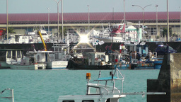 Port in Okinawa Islands 14 Stock Video Footage