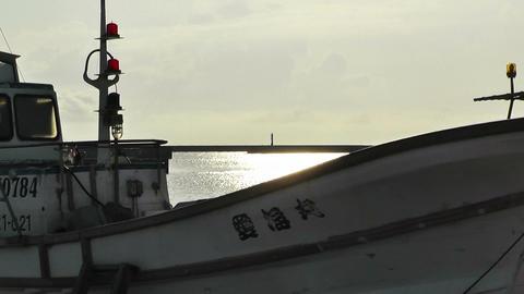 Port in Okinawa Islands 18 Stock Video Footage
