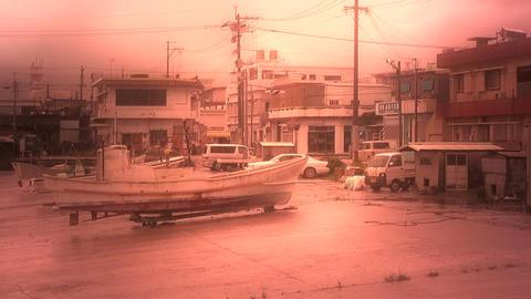Port in Okinawa Islands stylized 02 Stock Video Footage
