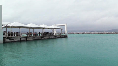 Port of Taketomi Island in Okinawa 01 Stock Video Footage
