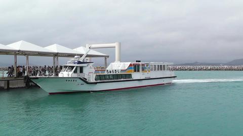 Port of Taketomi Island in Okinawa 03 Stock Video Footage