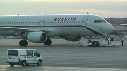 Rossyia Airlines at Helsinki Vantaa Airport 02 handheld Stock Video Footage