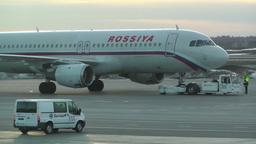 Rossyia Airlines at Helsinki Vantaa Airport 02 handheld Footage
