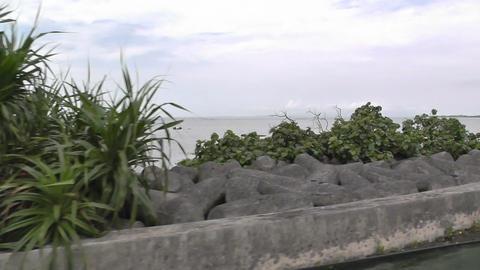 Rural Japan in Okinawa Islands 20 car handheld Stock Video Footage
