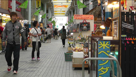 Rural Japanese Market in Okinawa Islands 02 Stock Video Footage