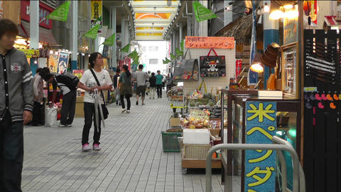 Rural Japanese Market in Okinawa Islands 02 Footage