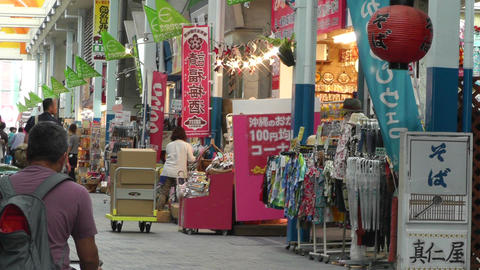 Rural Japanese Market in Okinawa Islands 04 Stock Video Footage