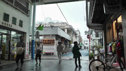Rural Japanese Market in Okinawa Islands 06 Footage