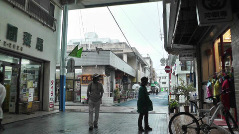 Rural Japanese Market in Okinawa Islands 06 Stock Video Footage