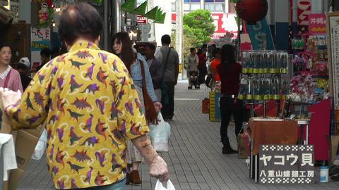 Rural Japanese Market in Okinawa Islands 12 Stock Video Footage