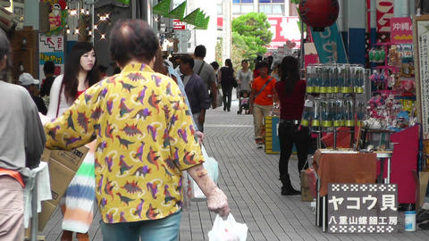 Rural Japanese Market in Okinawa Islands 12 Stock Video Footage