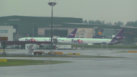 Singapore Changi Airport 02 fedex Footage