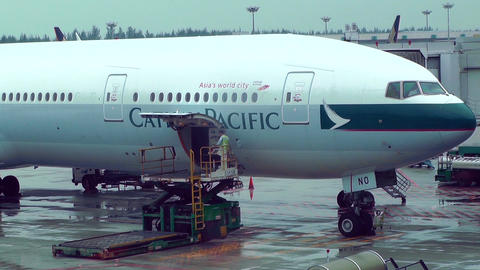 Singapore Changi Airport 08 cathay pacific Footage