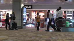 Singapore Changi Airport 10 passengers 60fps native... Stock Video Footage