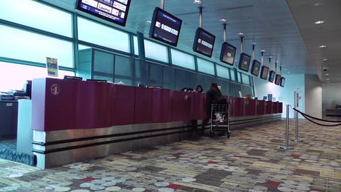 Singapore Changi Airport 12 help desk service center Stock Video Footage