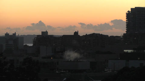 Sunrise in Sydney 01 Stock Video Footage