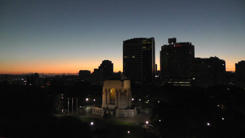 Sydney Anzac Memorial in Hyde Park 02 sunrise dawn Footage