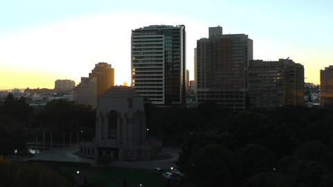 Sydney Anzac Memorial in Hyde Park Sunrise 01 Stock Video Footage