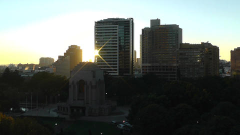 Sydney Anzac Memorial in Hyde Park Sunrise 01 Footage