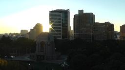 Sydney Anzac Memorial in Hyde Park Sunrise 01 Stock Video Footage