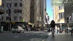 Sydney Cambridge Street Market Street traffic 01 Footage