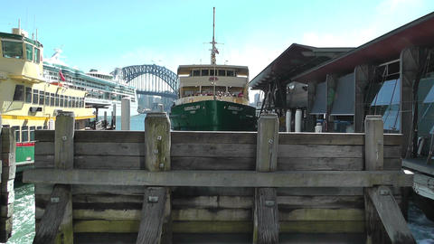 Sydney Circular Quay Port 01 Stock Video Footage