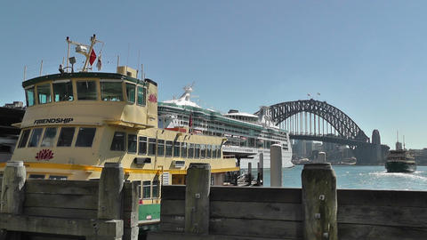 Sydney Circular Quay Port 03 Stock Video Footage