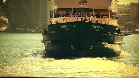 Sydney Circular Quay Port 70s old film stylized 04 Footage