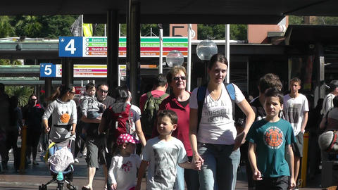Sydney Circular Quay Station 02 pedestrians Stock Video Footage