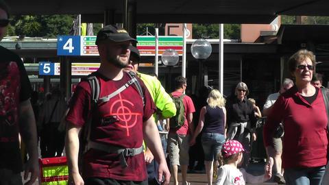 Sydney Circular Quay Station 02 pedestrians Footage
