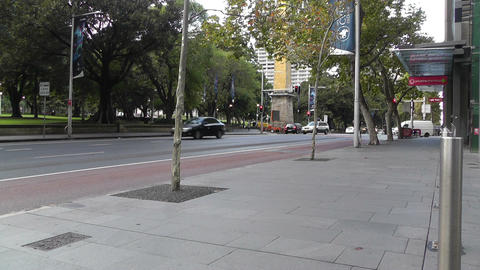 Sydney Downtown Elizabeth Street at Hyde Park 01 Footage