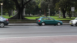 Sydney Downtown Elizabeth Street at Hyde Park 03 Stock Video Footage