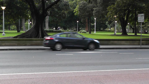 Sydney Downtown Elizabeth Street at Hyde Park 03 Stock Video Footage