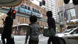 Sydney Downtown George Street 02 Stock Video Footage