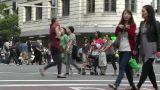 Sydney Downtown George Street 03 pedestrians Footage