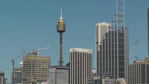 Sydney Downtown view Stock Video Footage
