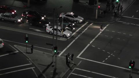 Sydney Elizabeth Street Liverpool Street at Night 02... Stock Video Footage