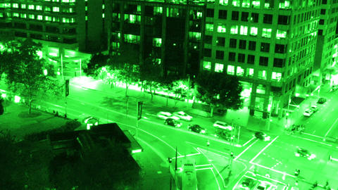Sydney Elizabeth Street Liverpool Street at Night 04... Stock Video Footage