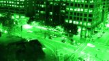 Sydney Elizabeth Street Liverpool Street at Night 04 nightvision Footage