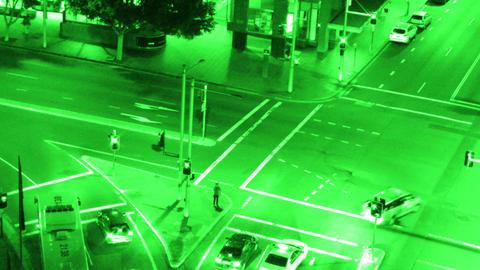 Sydney Elizabeth Street Liverpool Street at Night 06... Stock Video Footage