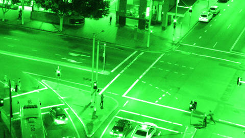 Sydney Elizabeth Street Liverpool Street at Night 06... Stock Video Footage